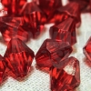 คริสตัลพลาสติก สีแดง 10มิล (1ขีด/100กรัม)