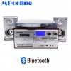 MPooling Bluetooth เครื่องเล่นแผ่นเสียง CD Tape USB FM/AM tuner + 2 ลำโพง