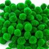 ปอมปอมไหมพรม สีเขียว 3ซม. (100 ลูก)