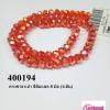คริสตัลจีน ทรงซาลาเปา สีส้มแสด 8 มิล (1เส้น)