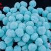 ปอมปอมไหมพรม สีฟ้าอ่อน (พาลเทล) 3ซม. (100 ลูก)