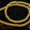 คริสตัลจีน ทรงซาลาเปา สีเหลือง 4 มิล (1เส้น)