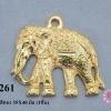 จี้รูปช้าง สีทอง 35X40 มิล (1ชิ้น)