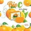 Bio c Vit C Soap สบู่วิตามินซี ไบโอซี ขนาด 100 กรัม ราคาปลีก 50 บาท / ราคาส่ง 40 บาท