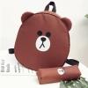พร้อมส่ง :: เป้หมีบราวน์ Line 11 นิ้ว แถมกระเป๋าดินสอ