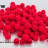 ปอมปอมไหมพรม สีแดงอมชมพู 1 ซม. (100ลูก)
