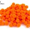 ปอมปอมไหมพรม สีส้ม 2 ซ.ม (100ลูก)