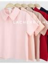พร้อมส่งค่ะ เสื้อแฟชั่นผ้าฮานาโกะ (สีชมพู) รุ่นปกแหลม แบบสวยเก๋ สีพื้น แมทง่าย ใส่สบาย ไม่มีเอ้าท์