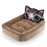 ที่นอนหน้าแมวเหมียวน้ำตาลไซด์ L