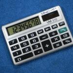 เครื่องคิดเลข 8 หลัก Vansuma 510 ขนาดเล็กเท่านามบัตร