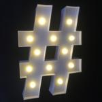 กล่องไฟ LED ตัวสัญญลักษณ์แฮชแทค # กล่องสีขาว/ ราคาต่อ 1 ชิ้น