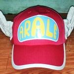 หมวก อาราเล่ (Arale) ติดปีก สีชมพูเข้ม