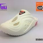 รองเท้า adda friends แอ็ดด๊าเฟรนด์เปิดส้น รุ่น 55S01-M1 สีขาว เบอร์ 7-10