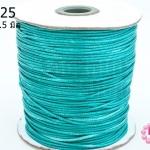 เชือกค๊อตต้อนเคลือบ สีฟ้าอมเขียว 1.5มิล(1ม้วน)(100หลา)