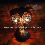Coconut Shell Lamp (โคมไฟต้นมะพร้าว โคม 2 ลูก)