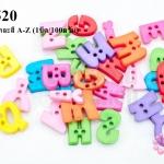 ลูกปัดพลาสติก ตัวอักษร คละสี A-Z (1ขีด/100กรัม)
