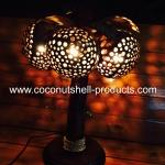 Coconut Shell Lamp (โคมไฟต้นมะพร้าว โคม 3 ลูก)