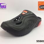 รองเท้า adda friends แอ็ดด๊าเฟรนด์เปิดส้น รุ่น 55S01-M1 สีดำ เบอร์ 7-10