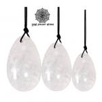 Yoni Eggs สำหรับการบริหารกล้ามเนื้ออุ้งเชิงกราน - คริสตัลควอตซ์ (Crystal Quartz) 1 ชุด (3 ชิ้น)