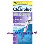อุปกรณ์ทดสอบการตกไข่แบบดิจิตอล Clearblue Advanced Digital Ovulation Test - 20 ชิ้น