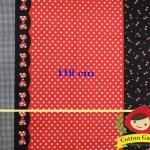 ผ้าคอตตอนลินิน ญี่ปุ่น ลายโบว์ มินนี่เม้าส์ มี หลายลายในผืนเดียว ขายที่ขนาด 1/2 เมตร เป็นต้นไปค่ะ