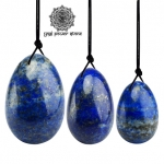 Yoni Eggs สำหรับการบริหารกล้ามเนื้ออุ้งเชิงกราน - ลาพิส ลาซูลี่ (Lapis Lazuli) 1 ชุด (3 ชิ้น)