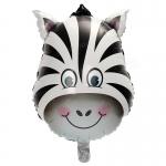 ลูกโป่งฟลอย์ หน้าม้าลาย - Zebra Face Foil Balloon / Item No. TL-B047