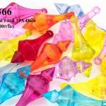 ลูกปัดพลาสติก หยดน้ำ สีใส คละสี 19X48มิล (1กิโล/1,000กรัม)