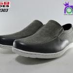 รองเท้าคัทชู CSB รหัส CM303 สีดำเทา เบอร์ 41-45
