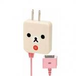 [สินค้าหมด] ที่ชาร์ตแบต iPhone4&iPod San-X Rilakkuma FR51501 หมีขาว