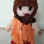 ตุ๊กตาเต้นได้ ผู้หญิง สีส้ม