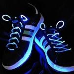 เชือกผูกรองเท้าไฟสีฟ้า Shoelace - LED Blue color