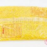ลูกปัดจีน กลม สีเหลืองเหลือบรุ้ง 2มิล #S(1ถุง/450กรัม)