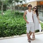 พร้อมส่ง ** ชุดคู่รัก Strip Couple on the Beach