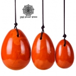 Yoni Eggs สำหรับการบริหารกล้ามเนื้ออุ้งเชิงกราน - เรด แจสเปอร์ (Red Jasper) 1 ชุด (3 ชิ้น)