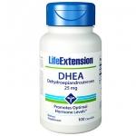 ดีเอชอีเอ (DHEA) Life Extension 25 มิลลิกรัม (100 แคปซูล)
