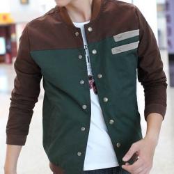 ราคาพิเศษ++เสื้อคลุมผู้ชายเบสบอล ทูโทน สีน้ำตาลเขียว น้ำตาลฟ้า No.40 42 44