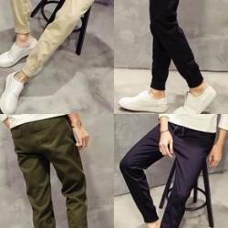 กางเกงขาจั๊ม แนวๆ เอวยืด jogg สีดำ น้ำเงิน เขียว size 28-34