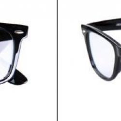 กรอบแว่นสายตาแฟชั่น ทรงrayban สไตล์ wayf สี ดำเงา