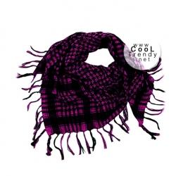 ผ้าพันคอชีมัค Shemagh สีม่วง