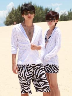 PRE กางเกงขาสั้นคู่รัก Couple beach pant ลายม้าลายสุดชิค