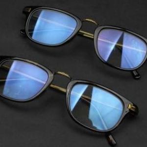 กรอบแว่นตากึ่งโลหะ ครึ่งกรอบ เรโทร เข้ามุม ขาsuper slim สีดำด้าน ดำเงา กระ