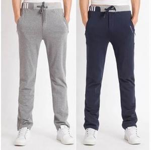 4สี!!กางเกงผ้าฝ้ายขายาว สลิม ทูโทน แต่งเทปเอวจั๊ม รูด ดำ เทา เทาอ่อน น้ำเงิน size 27-37