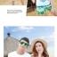 เสื้อคู่รัก ชุดคู่รักเที่ยวทะเลชาย +หญิง เสื้อยืดสีขาวลายเกาะทะเล กางเกงขาสั้นสีเขียว +พร้อมส่ง+ thumbnail 5