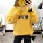 เสื้อแขนยาวแฟชั่นพร้อมส่ง เสื้อแขนยาวสีเหลือง แต่งสกรีน เสื้อตัวเล็ก +พร้อมส่ง+ thumbnail 2