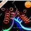 เชือกผูกรองเท้าไฟกระพริบ LED สีส้ม รหัส LD002 thumbnail 1