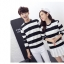 เสื้อแขนยาวคู่รัก เสื้อผ้าแฟชั่น ชาย +หญิง เสื้อแขนยาว รายริ้ว แต่งสีดำสลับสีขาว +พร้อมส่ง+ thumbnail 10