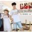 เสื้อคู่รัก แฟชั่นคู่รัก ชายเสื้อยืดคอกลม + เดรสคอกลม สีขาว แต่งลายไทย +พร้อมส่ง thumbnail 8