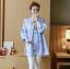 K1153401 เสื้อคลุมท้องแฟชั่้นเกาหลี โทนสีฟ้า thumbnail 5
