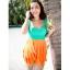 พร้อมส่ง ชุดว่ายน้ำทรงแซก เซ็ต 2 ชิ้น โทนสีเขียวส้ม ชุดแซกแต่งระบายน่ารักมากๆ (ชุดแซก + กางเกงขาสั้น) thumbnail 7